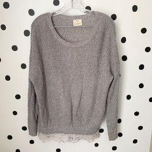 🔥30%OFF🔥Pins and needles sweater lace bottom S